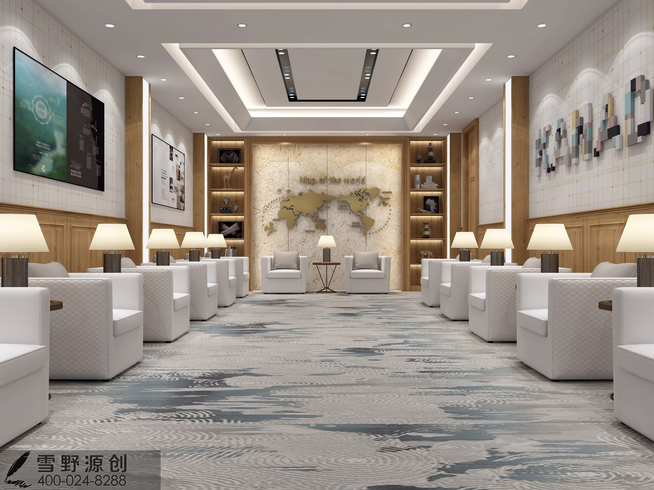 卡娜迪木门抓买点设计-高端木门店专卖店设计-高档整木店面-欧式整木设计-高档店面设计-