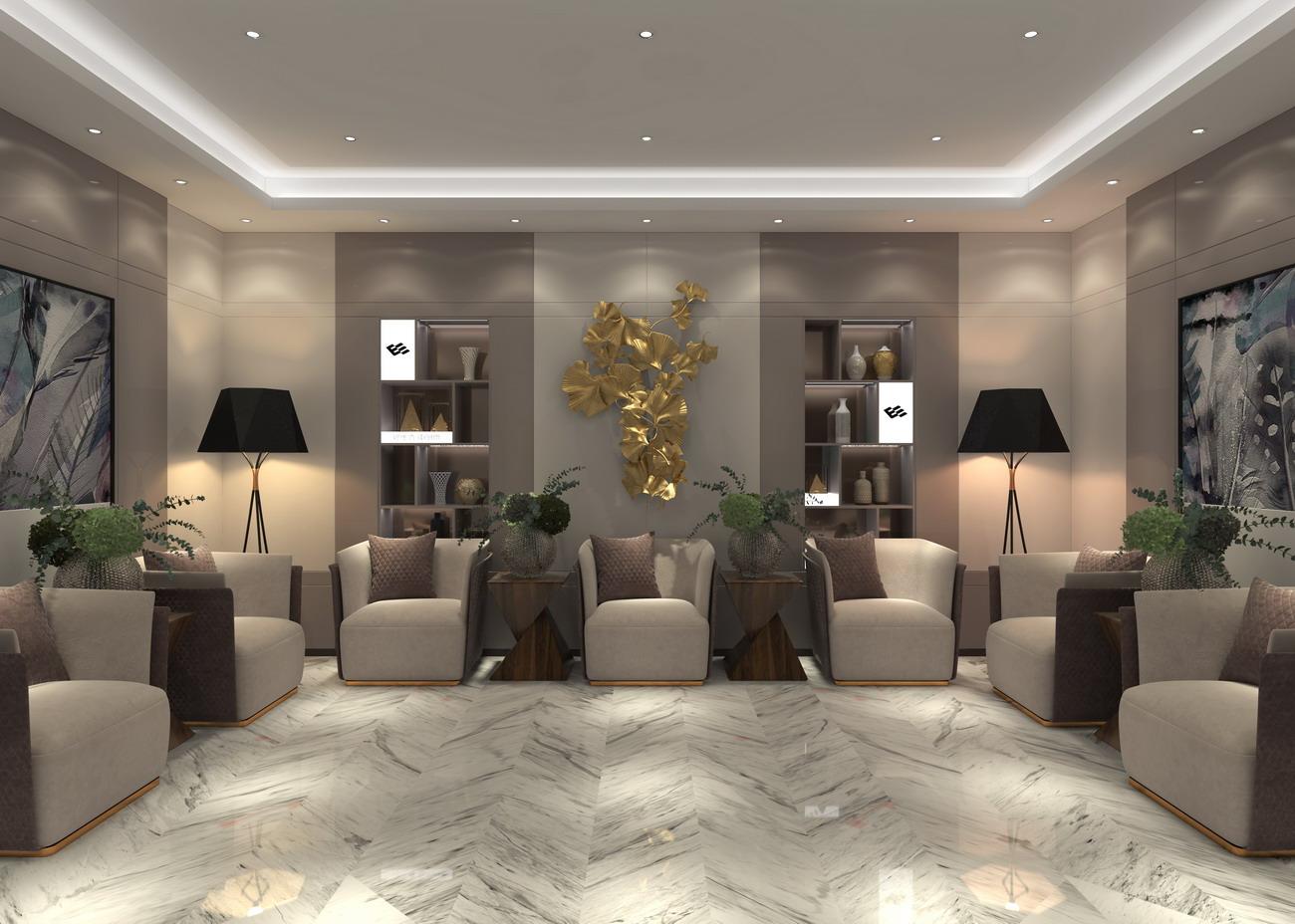 卡娜迪木门抓买点设计-高端木门店专卖店设计-客厅设计-整木定制店面设计-整木定制产品开发设计-