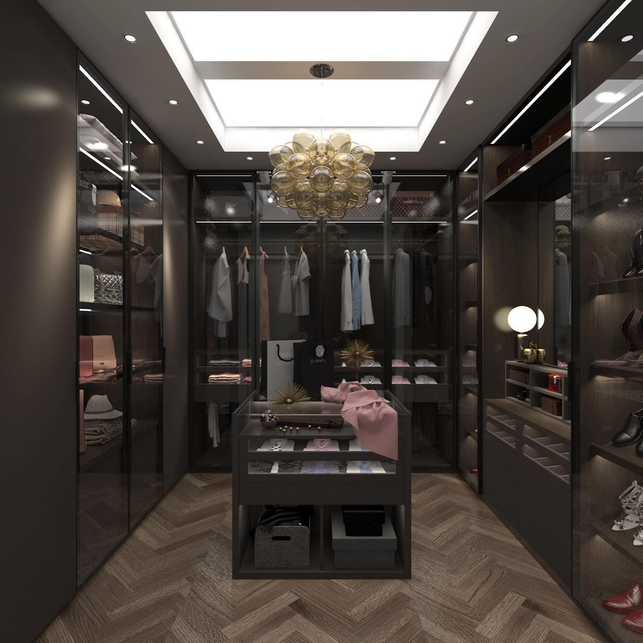 卡娜迪木门抓买点设计-高端木门店专卖店设计-衣柜设计-全屋定制装修方案-全屋定制店面方案-